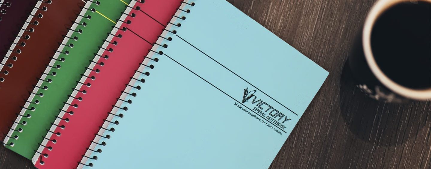 Victory Notebooks:<p>made with excellence</p>